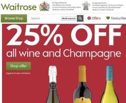 Waitrose - 25% off all wine when you buy three bottles or more