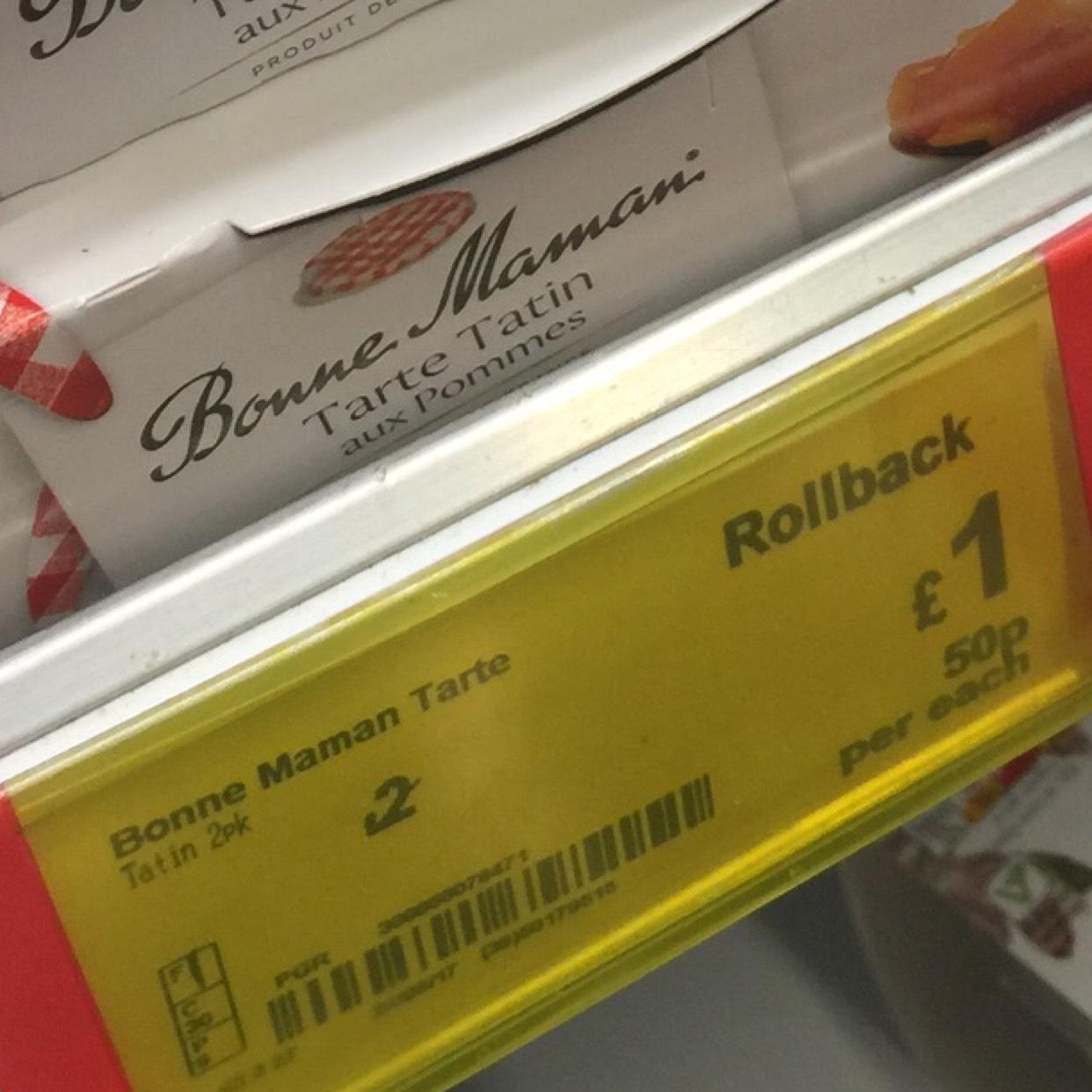 Bonne Maman Tarts (yummy!) £1 instore @ Asda