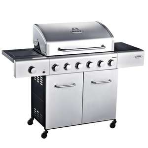 Outback Meteor 6 burner stainless steel hooded gas BBQ reduced  to £124.86 @ Homebase (instore Chatham)