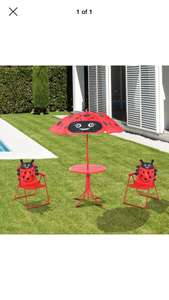 Ladybird outdoor table and chairs 10p at B&m garden clearance