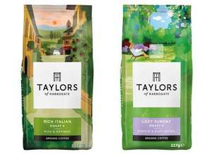 Taylors of Harrogate Rich Italian Rich Roast or Lazy Sunday Medium Roast Coffee 227g for £1.39 each with PYO @ Waitrose