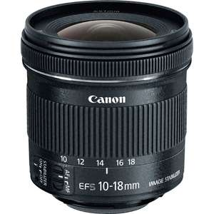 Canon EF-S 10-18mm f/4.5-5.6 IS STM - Canon online store -  £156.04 (with Unidays code)