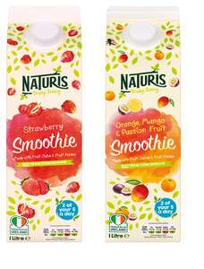 21p for 2 of your 5 a day – 1 litre Smoothie £1.05 @ Lidl