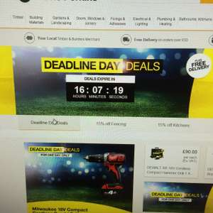 Travis Perkins free delivery and Transfer Deadline one day deals