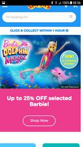 Up to 25% off many Barbie toys at Smyths. Some quite good prices on the new toys out!