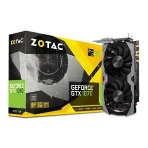 PreOrder of a Zotac NVIDIA GeForce GTX 1070 Mini 8GB Graphics Card - £339.98 @ Ebuyer