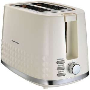 Morphy Richards 3Dimensional 2 Slice Toaster Ivory Cream was £30.00 now £22.50 @ Sainsbury's