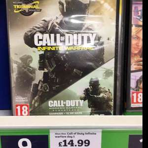 call of duty infinite warfare with cod 4 remastered (XBOX One) - £14.99 instore @ Sainsburys