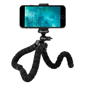 Rhodesy Octopus Style Tripod Stand Holder for Camera, Any Smartphone with Clip - £6.99 was £9.99 (£10.98 non Prime) - Sold by Rhodesy and Fulfilled by Amazon
