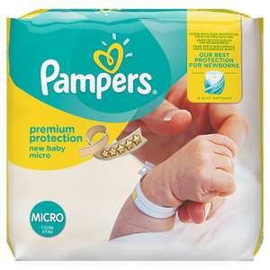 Pampers Premium Protection New Baby Nappies - Size 0, Pack of 144 £9 at Amazon (Prime or add £3.99)