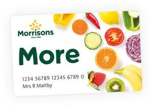 Morrisons - 5000 More Points (£5) with £40 spend OnLine or in store - Probably account specific