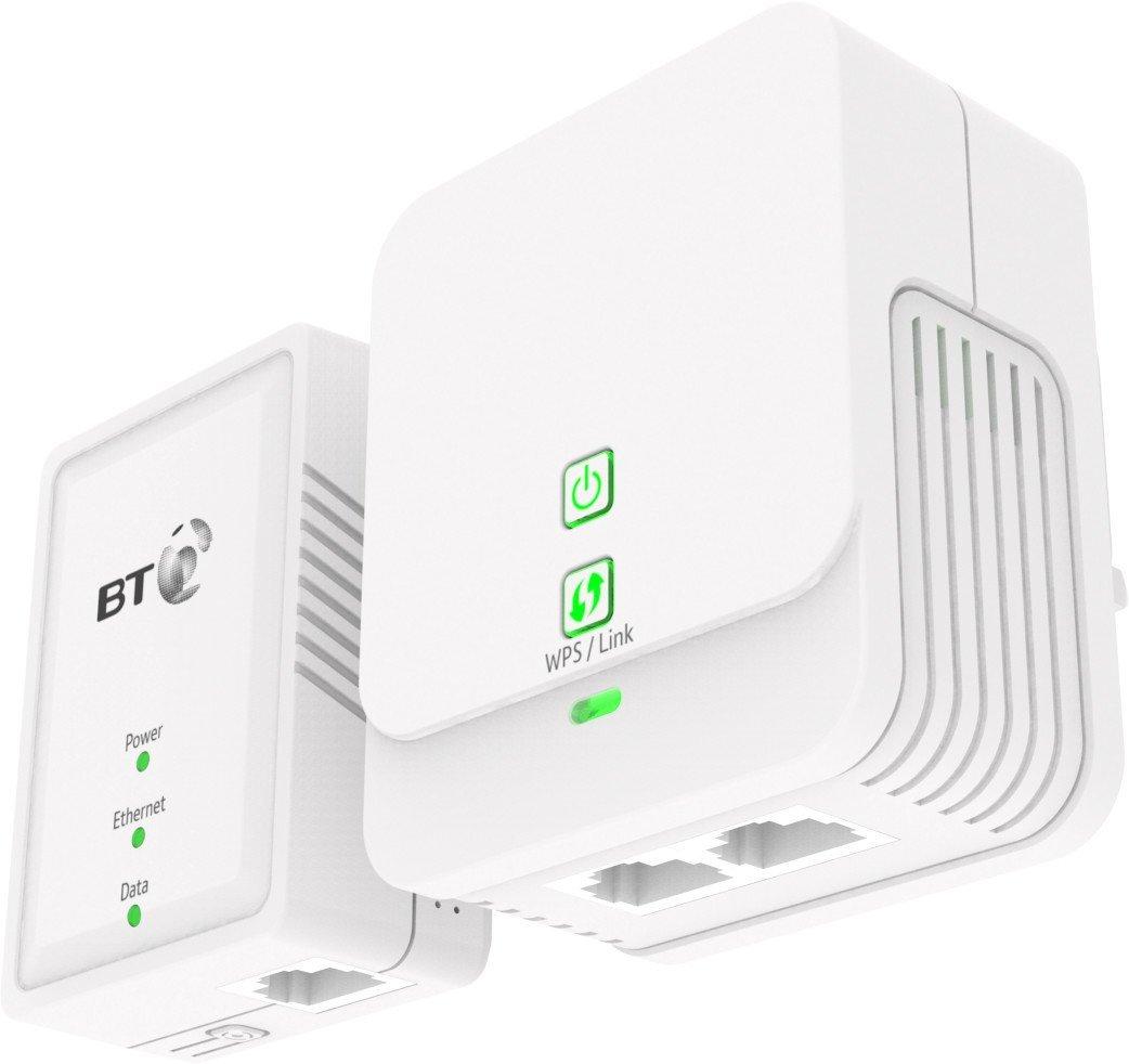 BT Essentials Wi-Fi Powerline 500 Kit £14.99 Prime (£18.98 non Prime) @ Amazon