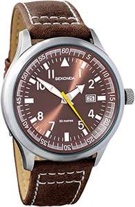 Sekonda Gents Brown Strap Watch £15 Prime / £18.99 non prime @ Amazon
