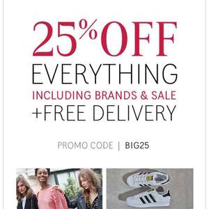 25% off + free delivery @ La Redoute with code BIG25