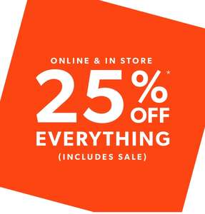 25% off Newlook, even off sale items!