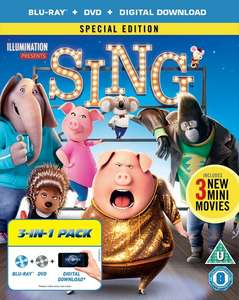 Sing ( Triple Play - Blu-ray, DVD And Digital Copy ) £6.75 Delivered using code @ Zoom