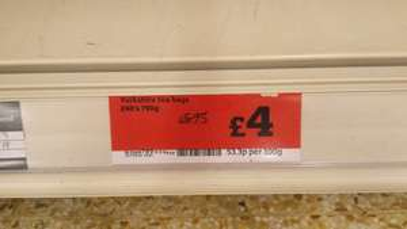 Yorkshire tea 240's  £4.00 @ Sainsbury's