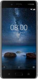 Nokia 8 64GB, EE, unl. minutes, unl. txts, 5GB data; £27.99pm, 24 months contract, £30 upfront with code AUGPAY10, £701.76 total @ Mobiles.co.uk