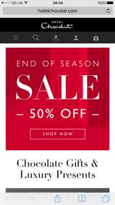 Hotel chocolat end of season sale