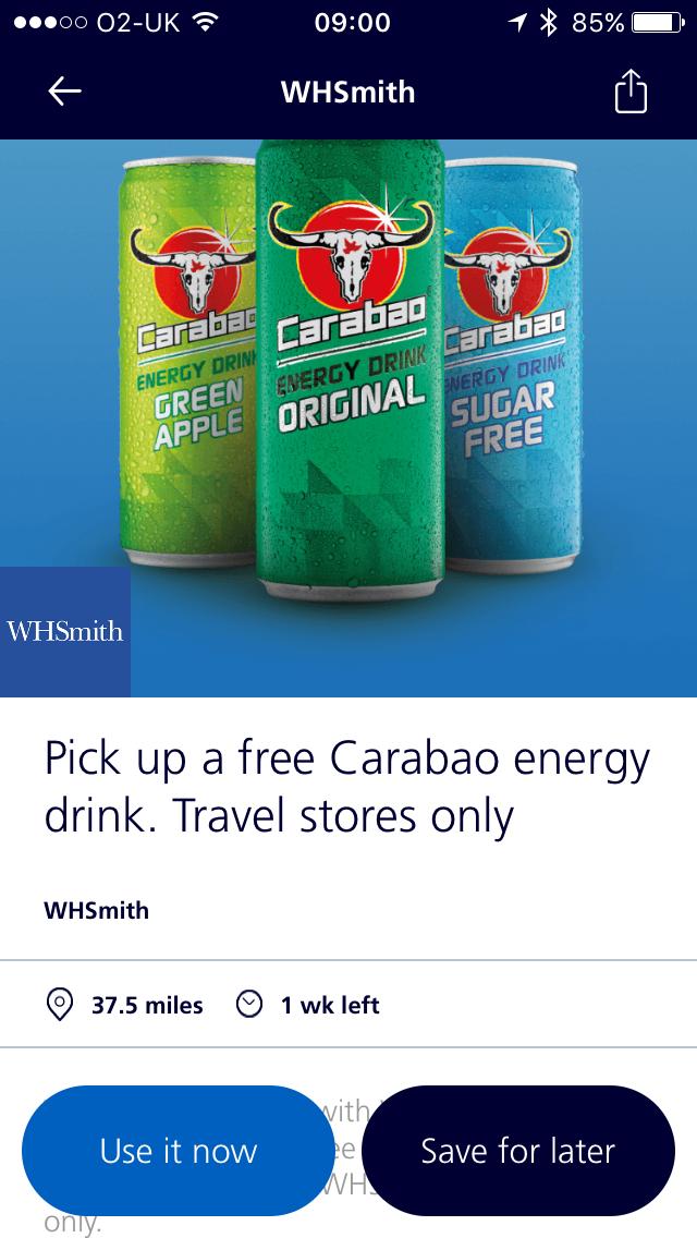 O2 priority free carabao energy drink