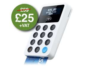 iZettle Card Reader £25 + VAT (£30 inc)