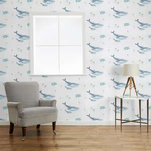 50% off ALL Wallpaper / Fabrics / Mattresses + Selected Furniture + 40% Off ALL Ready Made Curtains / 30% Off ALL Paint @ Laura Ashley ie Blue Whale Wallpaper was £20 now £3.50