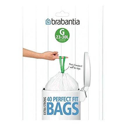 Brabantia Bin Liners, Size G, 23-30L, 40 Bags £3.04 (S&S) @ Amazon