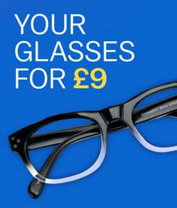 £9 Prescription glasses (£3.95 P&P) @ Glasses Direct
