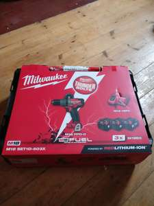 Milwaukee possible mis price. 135Nm drill and 3 5Ah batteries - £180 instore @ Plumbcenter