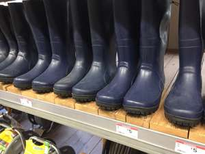 B&Q Navy Wellies - All Sizes Reduced to £5