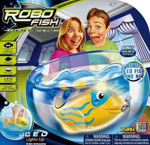 Zuru Robo Fish Bowl with 2 LED Light Up Fish and Net £7.99 Delivered @Argos Ebay