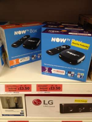 Now TV box with 3 mth Entertainment or 2 mth Cinema, Sainsburys In Store