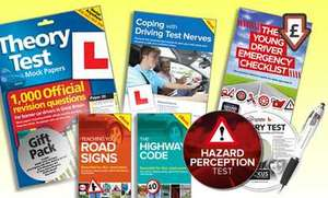 The Learner Driver Gift Pack - Theory Test Papers, revision questions(1000) and Driving Test PC/DVD tutorials,400 Hazard perception and mock tests, Highway code,  for 2017 £7.99+ £1.99 delivery at Groupon £9.98