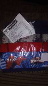 Boys Spiderman Boxers at Home Bargains (Jarrow) - £2.99
