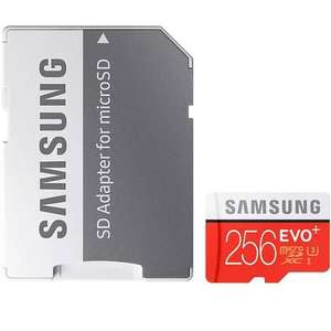 Samsung 256GB EVO Plus Micro SD Card (SDXC) U3 + Adapter for £109.99 inc. shipping @ Mymemory.co.uk