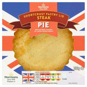 Morrisons Shortcrust Steak Pie 200g - down from £1.67 to £1.00 in store.