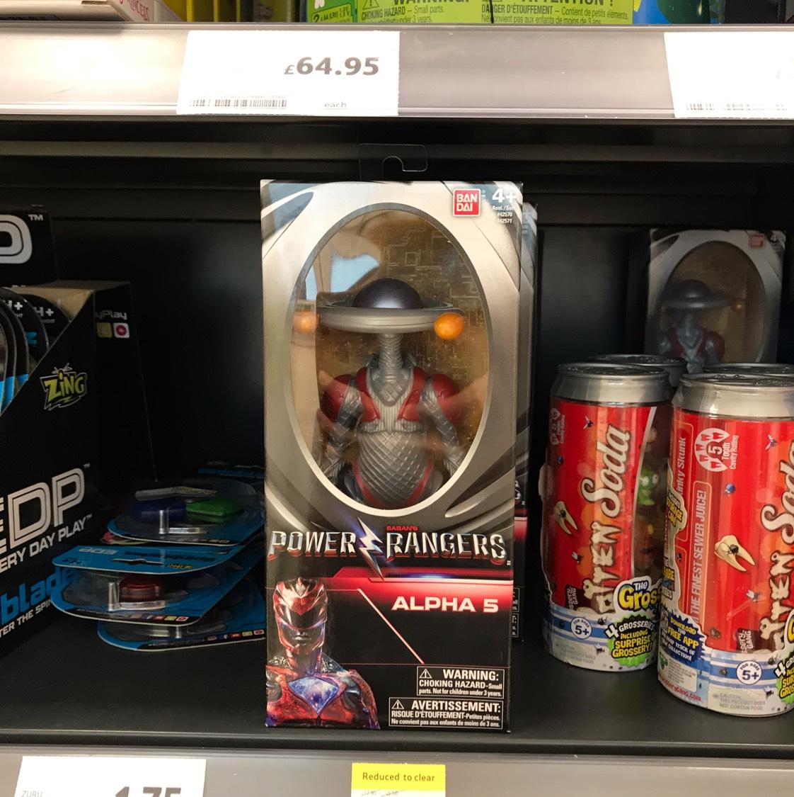 Power Rangers Alpha 5 Figure instore at Tesco for £3.24