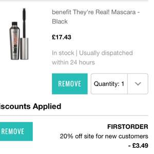 BENEFIT THEYRE REAL MASCARA £13.94 W CODE + FREE DELIVERY at Look Fantastic