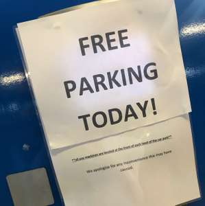 Free parking today at IKEA in southampton