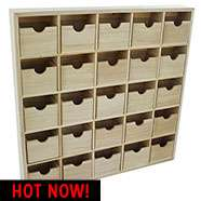 25 Drawer Wooden Cabinet (Ideal for Advent Calendars) was £15 now £11.75 with code C+C (may honour code instore) @ The Works (Buy 2 & get Free Delivery) + Colour Your Own 2018 Calendar £1.50