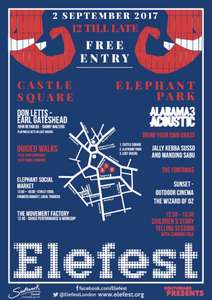 free festival today in south london - elefest - elephant and castle