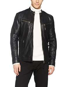 "Maze goat skin leather ""joey"" biker style jacket free delivery and returns £27.44 @ amazon"