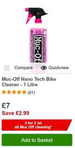 3 for 2 on Muc Off products @ Halfords