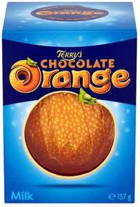 Terrys Chocolate Orange Milk (157g) was £1.98 now £1.00 @ Morrisons