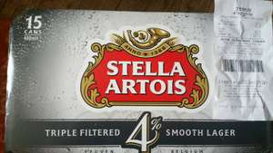 Stella Artois 4%, 15 x 440ml Cans RTC £6.61 @ Tesco Express, Trongate Glasgow In Store