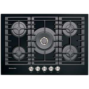 KitchenAid KHGD5 Integrated Gas Hob, Black / Inox  £260.99 @ Hotpoint Clearance