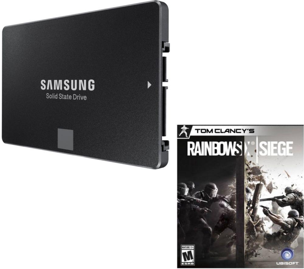 "SAMSUNG 250 GB 850 Evo 2.5"" Internal SSD & Rainbox Six Siege Bundle - £89.99 @ Currys"
