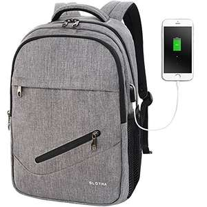 LOTRA 15.6 Inch Laptop Backpack with USB Charging Port Computer Rucksack College School Backpack Satchel Bag Grey £24.64 Sold by Slotra Inc. and Fulfilled by Amazon.