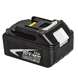 18V 6.0Ah Li-ion Replacement Battery for Makita £35.99 Sold by easydecor and Fulfilled by Amazon.