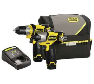 Stanley FatMax Li-Ion 1.5Ah Drill and Impact Driver 10.8V + £5 Argos Voucher for next shopping £65.99
